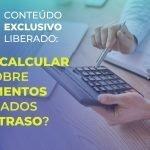 Como calcular o IR sobre pagamentos realizados com atraso?
